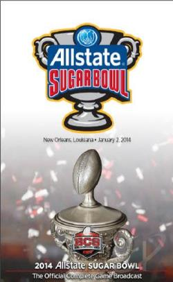 2014 Allstate Sugar Bowl DVD Cover Art