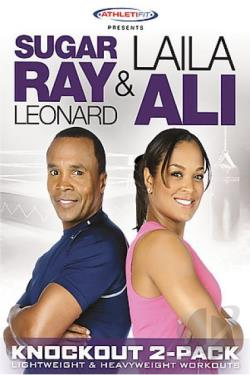 Sugar Ray Leonard & Laila Ali - Knockout Workout 2-Pack DVD Cover Art