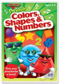 Rock 'N Learn: Colors, Shapes & Numbers DVD Cover Art
