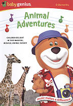 Baby Genius - Animal Adventures DVD Cover Art