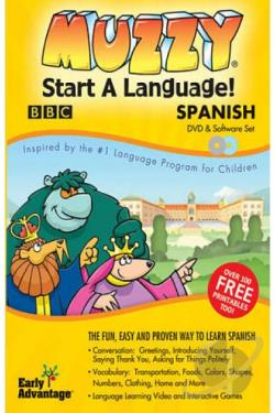 Muzzy Start a Language: Spanish DVD Cover Art