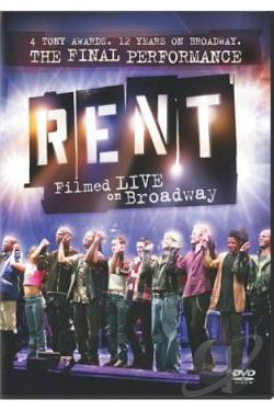 RENT: Filmed Live On Broadway DVD Cover Art