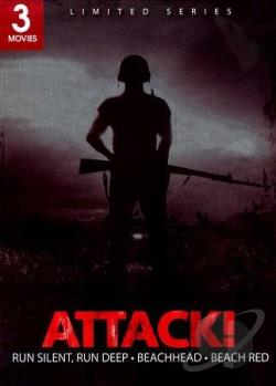 Attack!: Run Silent, Run Deep/Beachhead/Beach Red DVD Cover Art