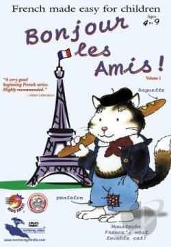 Bonjour Les Amis: French Made Easy for Children - Vol. 1 DVD Cover Art