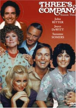 Three's Company - Season 3 DVD Cover Art