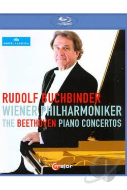 Rudolf Buchbinder/Wiener Philharmoniker: The Beethoven Piano Concertos BRAY Cover Art