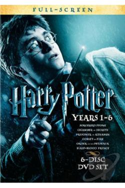 Harry Potter: Years 1-6 DVD Cover Art