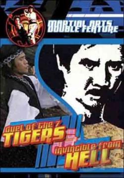 Martial Arts Double Feature: Duel of the 7 Tigers/Invincible From Hell DVD Cover Art