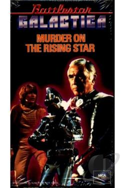 Battlestar Galactica - Murder On The Rising Star VHS Cover Art