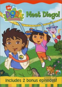 Dora the Explorer - Meet Diego! DVD Cover Art