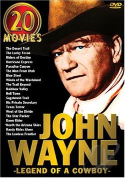 John Wayne - Legend of A Cowboy: 20-Movie Set DVD Cover Art