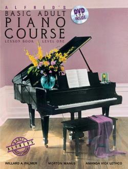 Alfred's Basic Adult Piano Course:Bk1 DVD Cover Art