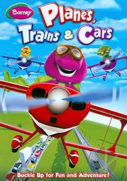 Barney: Planes, Trains & Cars DVD Cover Art