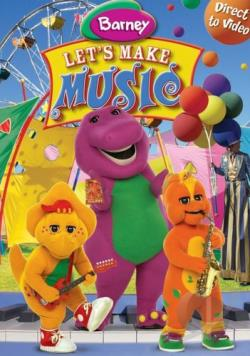 Barney - Let's Make Music DVD Cover Art