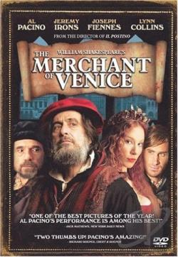 William Shakespeare's The Merchant of Venice DVD Cover Art