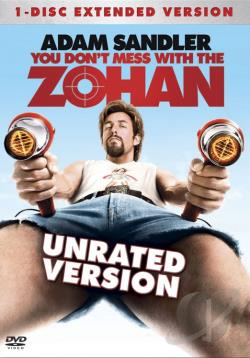 You Don't Mess With The Zohan DVD Cover Art