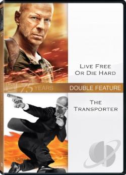 Live Free or Die Hard/The Transporter DVD Cover Art