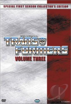 Transformers - Season 1: Vol. 3 DVD Cover Art