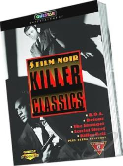 5 Film Noir Killer Classics DVD Cover Art