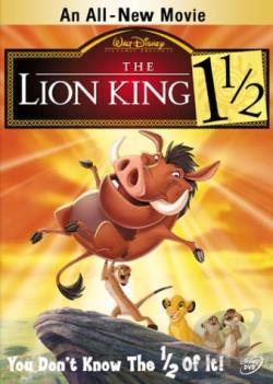 Lion King 1 1/2 DVD Cover Art