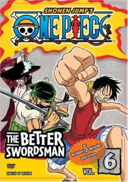 One Piece - Vol. 6: The Better Swordsman DVD Cover Art