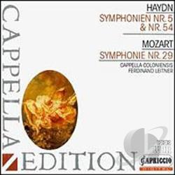 Haydn - Sym.54&29/Leitner CD Cover Art