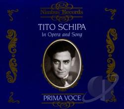 Schipa, Tito:ten - Tito Schipa in Opera and Song CD Cover Art