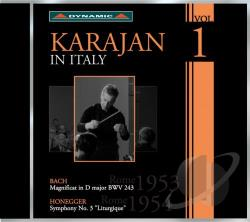 Karajan In Italy 1 - Karajan in Italy, Vol. 1 CD Cover Art