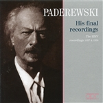 Paderewski, Ignace - HMV recordings 1937 & 1938 CD Cover Art