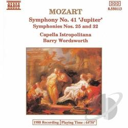 Capella Istropolitana / Mozart / Wordsworth - Mozart: Symphonies Nos. 41, 25 & 32 CD Cover Art