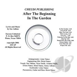 Adkins, Sue - After The Beginning/In The Garden CD Cover Art