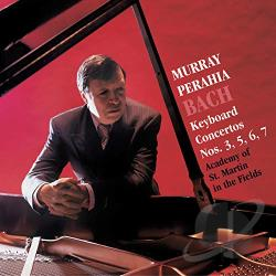 Amf / Bach / Perahia - Keyboard Concertos 3 5 6 & 7 CD Cover Art