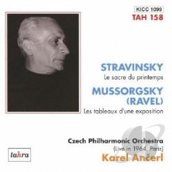 Ancerl, Karel / Mussorgsky / Stravinsky - Rite Of Spring CD Cover Art