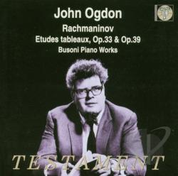 Ogdon / Rachmaninoff - John Ogdon Plays Rachmaninov CD Cover Art
