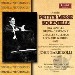 Barbi / Ny P.O / Westminster Choir - Rossini: Petite Messe Solenell CD Cover Art