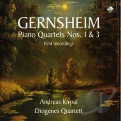 Diogenes Quartet - Friedrich Gernsheim: Piano Quartets Nos. 1 & 3 CD Cover Art