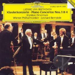Beethoven / Bernstein / Vpo / Zimerman - Piano Concertos Nos. 3 & 4 CD Cover Art