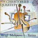Malipiero / Turina / Weigl - Christopher Quartet Plays Wiegl, Malipiero & Turina CD Cover Art