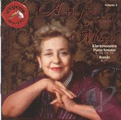 De Larrocha, Alicia - Mozart: Piano Sonatas Volume 5 / Alicia De Larrocha CD Cover Art