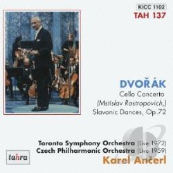 Ancerl, Karel - Cello Concerto Op 104 CD Cover Art