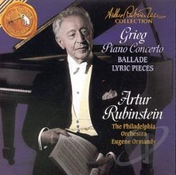 Rubinstein, Arthur  - Rubinstein Collection- Grieg: Piano Concerto, Ballade, etc CD Cover Art
