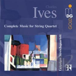 Ives / K.W.A.K. / Leipzig String Quar / Schleiermacher - Ives: Complete Music for String Quartet CD Cover Art