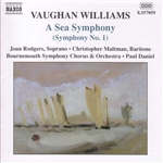 Daniel / Maltman / Rodgers / Williams, Vaughan - Vaughan Williams: A Sea Symphony (Symphony No. 1) CD Cover Art