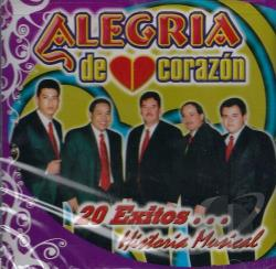 Alegria De Corazon - 20 Exitos: Historia Musical CD Cover Art