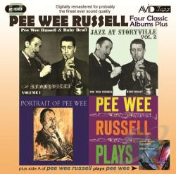 Russell, Pee Wee - Four Classic Albums Plus: Jazz At Storyville, Vol. 1/Jazz At Storyville, Vol. 2/Portrait of Pee Wee/Pee Wee Russell Plays CD Cover Art