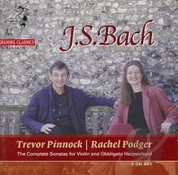 Bach / Pinnock / Podger - Bach: Sonatas for Violin & Keyboard CD Cover Art