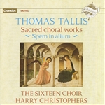 Christophers / Tallis - Thomas Tallis: Sacred Choral Works CD Cover Art