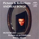 Boyde, Andreas / Mussorgsky / Ravel - Pictures & Reflections CD Cover Art