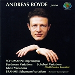 Boyde, Andreas / Schumann - Andreas Boyde Plays Schumann & Brahms CD Cover Art