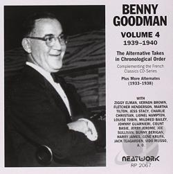 Goodman, Benny - Alternative Takes, Vol. 4: 1939 - 1940 CD Cover Art